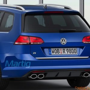 Listwa chromowana do VW Golf VII na klapę bagażnika