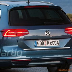 Listwa chromowana ochronna na klapę bagażnika VW Passat B8.