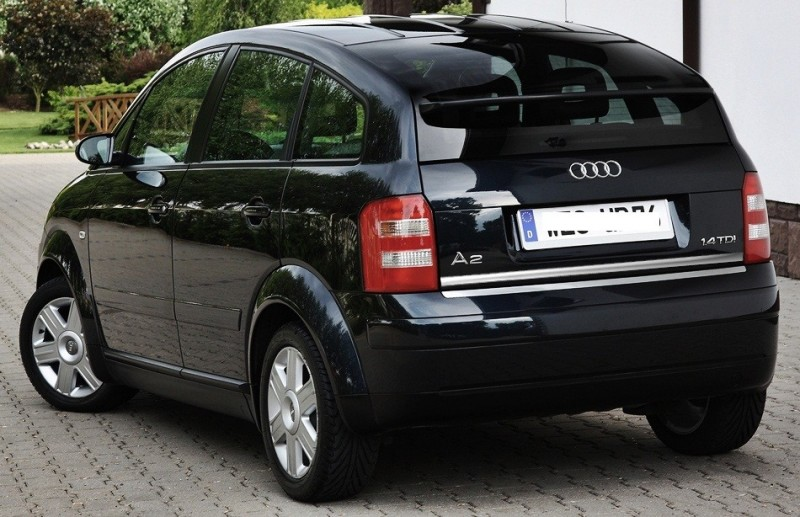 audi a2 chrome plated protective strip on the trunk lid. Black Bedroom Furniture Sets. Home Design Ideas