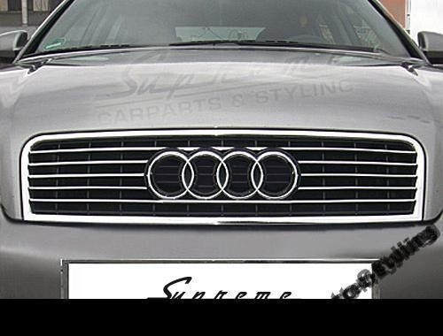 Audi A4 B6 Sedan Kombi Chrome Strips On The Front Grill Chrome Auto
