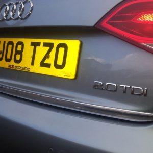 Listwa chromowana na klapę bagażnika do Audi A4 B8 Sedan