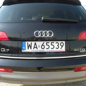 Listwa chromowana do Audi Q7 na tylne drzwi