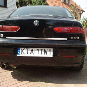 Listwa chrom na klapę bagażnika do Alfa Romeo 156 Sedan.