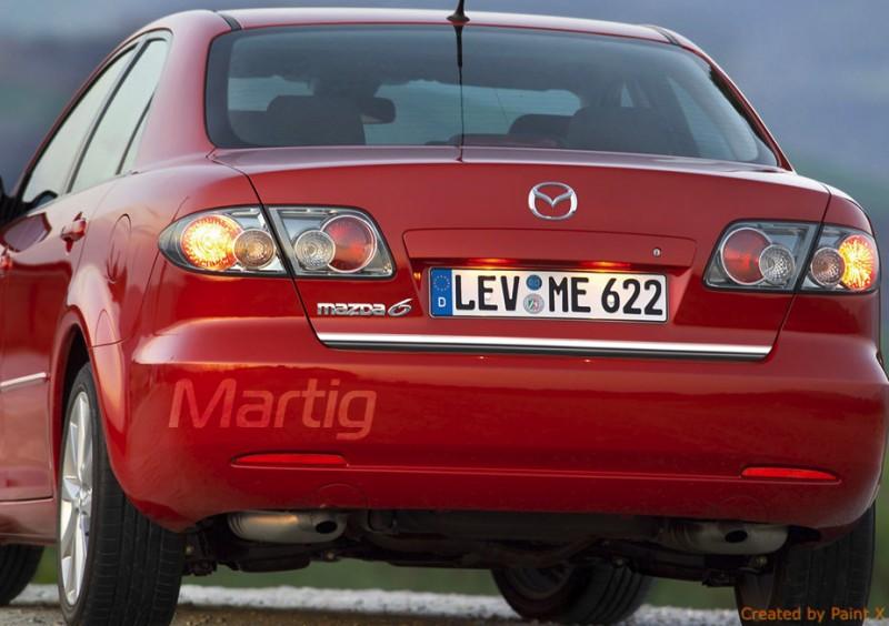Mazda 6 I Gg Hb Limousine Chromprofil Kofferraum Chrome Auto