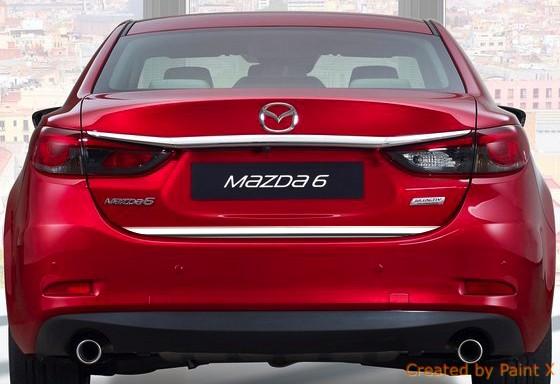 Mazda 6 Iii Limousine Gj Chromblende Fur Die Heckklappe Chrome Auto